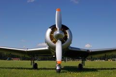 Vliegtuig van de voorzijde Royalty-vrije Stock Foto's