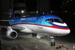 Vliegtuig van toekomst Stock Foto