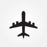 Vliegtuig vectordiepictogram op witte achtergrond wordt geïsoleerd Royalty-vrije Stock Foto