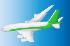 Vliegtuig vectorillustratie Stock Afbeelding