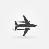 Vliegtuig vectorpictogram of embleem Royalty-vrije Stock Foto's