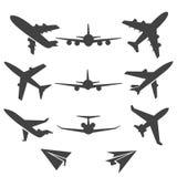 Vliegtuig vectorpictogrammen vector illustratie