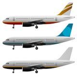 Vliegtuig Vectorreeks Royalty-vrije Stock Foto's