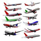 Vliegtuig Vectorreeks Royalty-vrije Stock Afbeeldingen