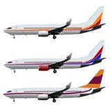 Vliegtuig Vectorreeks Royalty-vrije Stock Foto