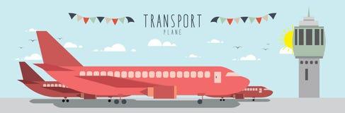Vliegtuig (Vervoer) Stock Foto's