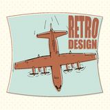 Vliegtuig vliegtuigen, luchtvaartlijn, vervoer, bommenwerper Royalty-vrije Stock Foto's