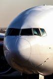 Vliegtuig vooraanzicht Stock Foto's