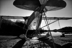 Vliegtuig Vroege Ochtend Stock Foto's