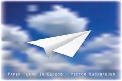 Vliegtuig in Wolken stock illustratie