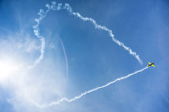 Vliegtuigacrobaten royalty-vrije stock fotografie