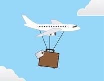 Vliegtuigbagage Stock Foto's