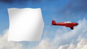 Vliegtuigbanner (Grote Spatie) vector illustratie