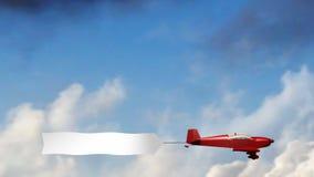 Vliegtuigbanner (Spatie) stock illustratie