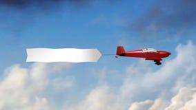 Vliegtuigbanner (Spatie) royalty-vrije illustratie