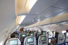 Vliegtuigcabine royalty-vrije stock afbeelding