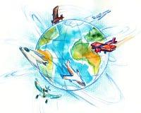 Vliegtuigen. vector illustratie