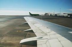 In vliegtuigen Royalty-vrije Stock Foto's