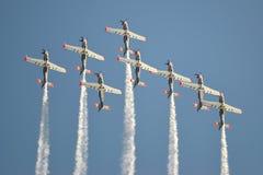 Vliegtuigen, acrobatiek Stock Afbeelding