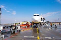 Vliegtuigen bij de Luchthaven van Stockholm royalty-vrije stock afbeelding
