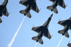 Vliegtuigen bij een nationale airshow Royalty-vrije Stock Fotografie