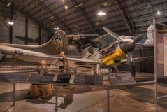 Vliegtuigen bij het de USAF-Museum, Dayton, Ohio Stock Foto