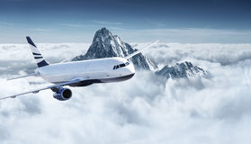 Vliegtuigen in de hemel Royalty-vrije Stock Afbeelding