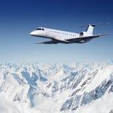 Vliegtuigen in de hemel Royalty-vrije Stock Foto
