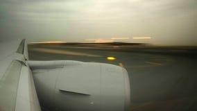 Vliegtuigen die Hyperlapse landen stock video