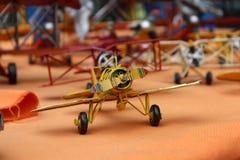 Vliegtuigen die, Vlooienmarkt modelleren Stock Foto's