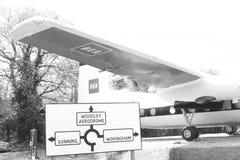 Vliegtuigen in een museum Stock Afbeelding
