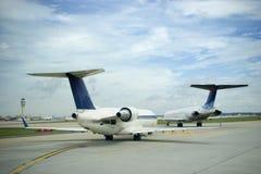Vliegtuigen en Hemel Royalty-vrije Stock Afbeelding