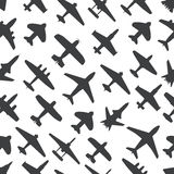 Vliegtuigen en stralen naadloze achtergrond Stock Fotografie