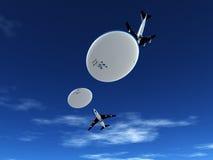 Vliegtuigen en UFO Stock Afbeelding