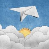 Vliegtuigen gerecycleerd document Stock Afbeelding