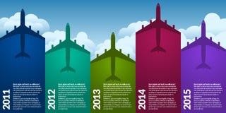 Vliegtuigen infograph Stock Foto's
