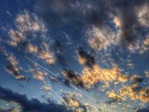 Vliegtuigen lucht Stock Afbeeldingen