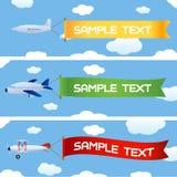 Vliegtuigen met bericht vector illustratie