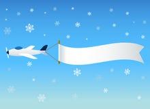 Vliegtuigen met bericht stock illustratie