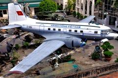 Vliegtuigen in Museum van de Geschiedenis van Vietnam het Militaire Stock Afbeelding