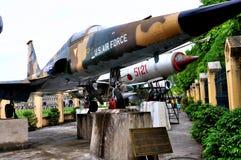 Vliegtuigen in Museum van de Geschiedenis van Vietnam het Militaire Royalty-vrije Stock Foto
