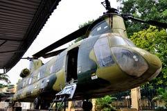 Vliegtuigen in Museum van de Geschiedenis van Vietnam het Militaire Stock Foto