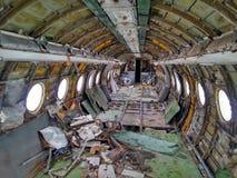 Vliegtuigen na de ramp Stock Foto