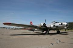 Vliegtuigen op baan Royalty-vrije Stock Foto