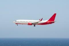 Vliegtuigen op definitieve benadering stock afbeeldingen