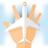 Vliegtuigen op hand Vector Illustratie
