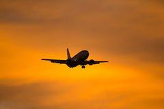 Vliegtuigen Sihouette Royalty-vrije Stock Foto's