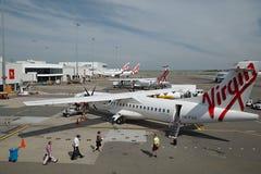 Vliegtuigen in Sydney Airport royalty-vrije stock afbeelding