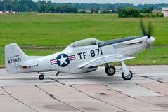 Vliegtuigen tf-51D Stock Afbeeldingen