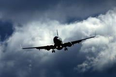 Vliegtuigen tijdens de vlucht stock afbeeldingen
